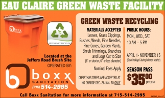 Eau Claire Green Waste Facility