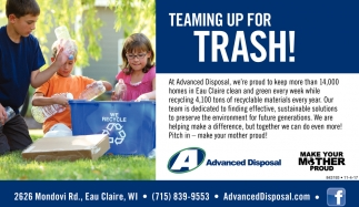 Teaming Up For Trash!