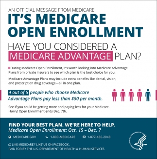 It's Medicare Open Enrollment