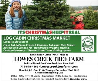 Log Cabin Christmas Market