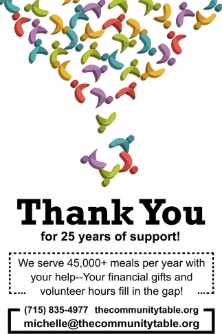 Thank you for 25 Years of Support!