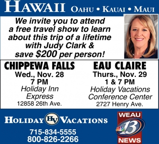 We Invite you to Attend a Free Travel Show