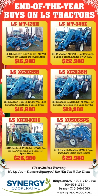 End-of-the-Year Buys on LS Tractors