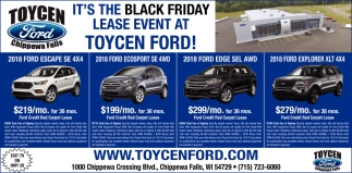 It's the Black Friday Lease event