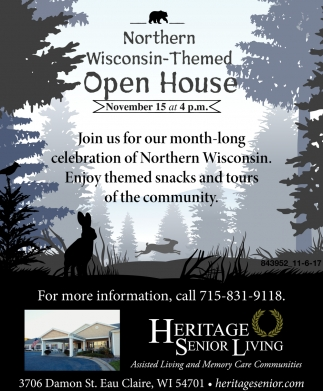 Northern Wisconsin-Themed Open House