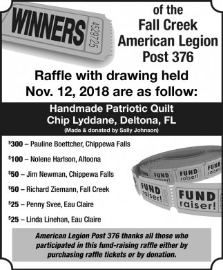 Raffle with Drawing
