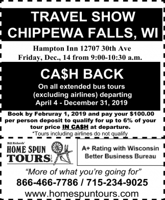 Travel Show Chippewa Falls