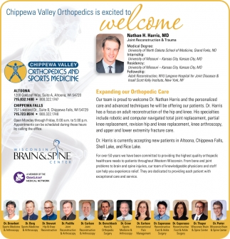Expanding our Orthopedic Care, Chippewa Valley Orthopedics