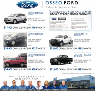Certified Pre-Owned Peace of Mind