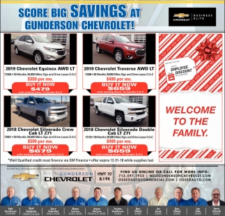 Score Big Savings at Gunderson Chevrolet