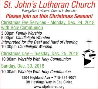 Please Join Us this Christmas Season