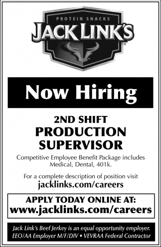 2nd Shift Production Supervisor