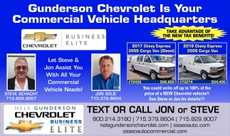 Gunderson Chevrolet is your Commercial Vehicle Headquarters