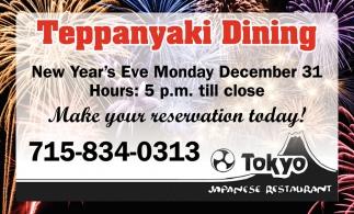Teppanyaki Dining