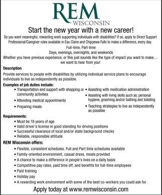 Start the New Year with a New Career
