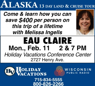 Alaska 13 Day Land & Cruise Tour