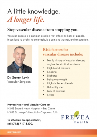 Stop Vascular Disease from Stopping You