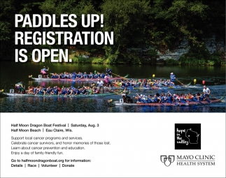 Paddles Up! Registration is Open