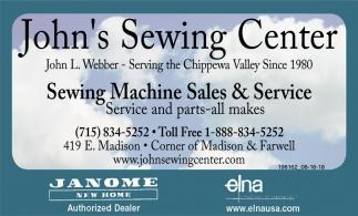Sewing Machine Sales & Service