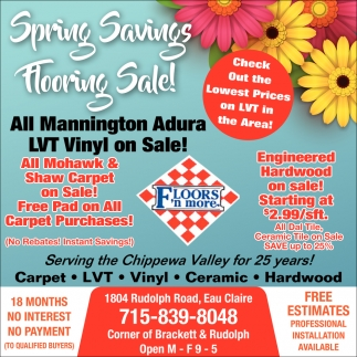 Spring Savings Flooring Sale