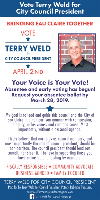 Terry Weld for City Council President