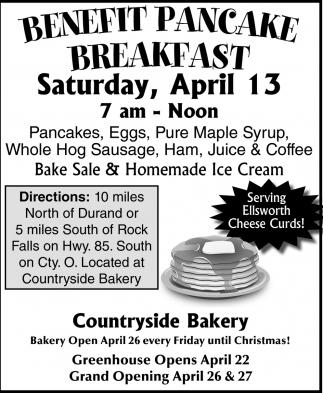 Benefit Pancake Breakfast