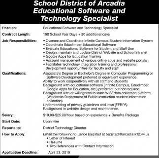 Educational Software and Technology Specialist