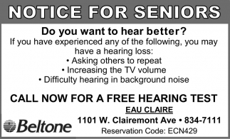 Notice for Seniors