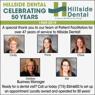 Hillside Dental Celebrating 50 Years