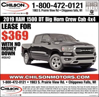 2019 RAM 1500 DT Big Horn Crew Cab 4x4