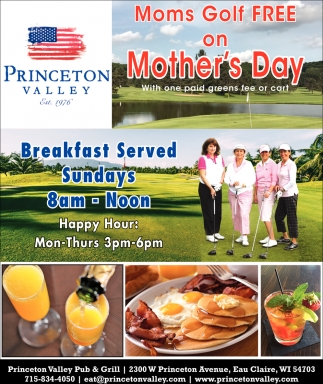 Moms Golf Free on Mother's Day