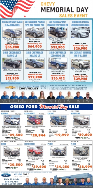 Memorial Day Sales Automotive