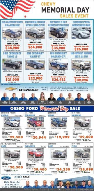 Memorial Day Sales Automotive