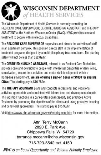 Resident Care Supervisor