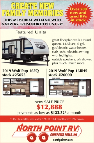 North Point Rv >> Create New Family Memories North Point Rv
