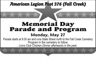 Memorial Day Parade and Program