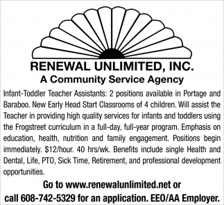 Infant-Toddler Teacher Assistants