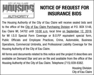 Notice of Request for Insurance Buds