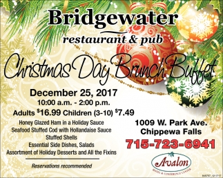 christmas day brunch buffet bridgewater