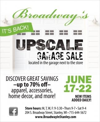 Upscale Garage Sale