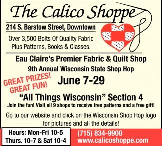 Eau Claire's Premier Fabric & Quilt Shop
