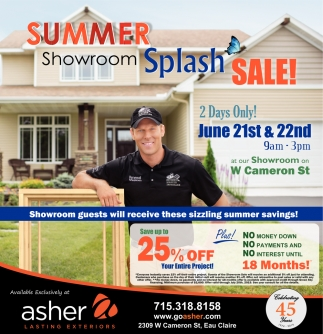 Summer Showroom Splash Sale