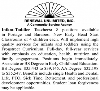 Infant-Toddler Specialist/Supervisor