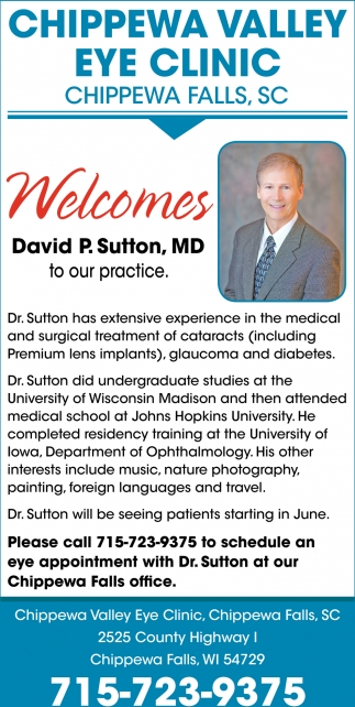 Welcome David O. Sutton, MD