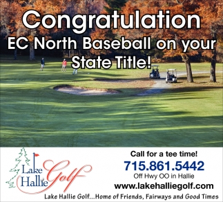 Congratulation EC North Baseball in your State Title