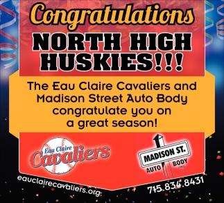 Congratulations North High Huskies
