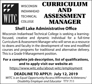 Curriculum and Assesment Manager