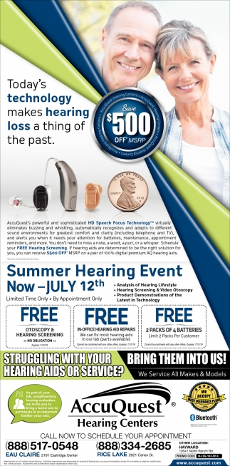 Summer Hearing Event