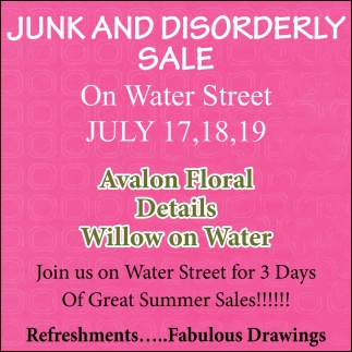 Junk and Disorderly Sale