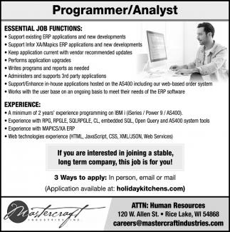 Programmer Analyst